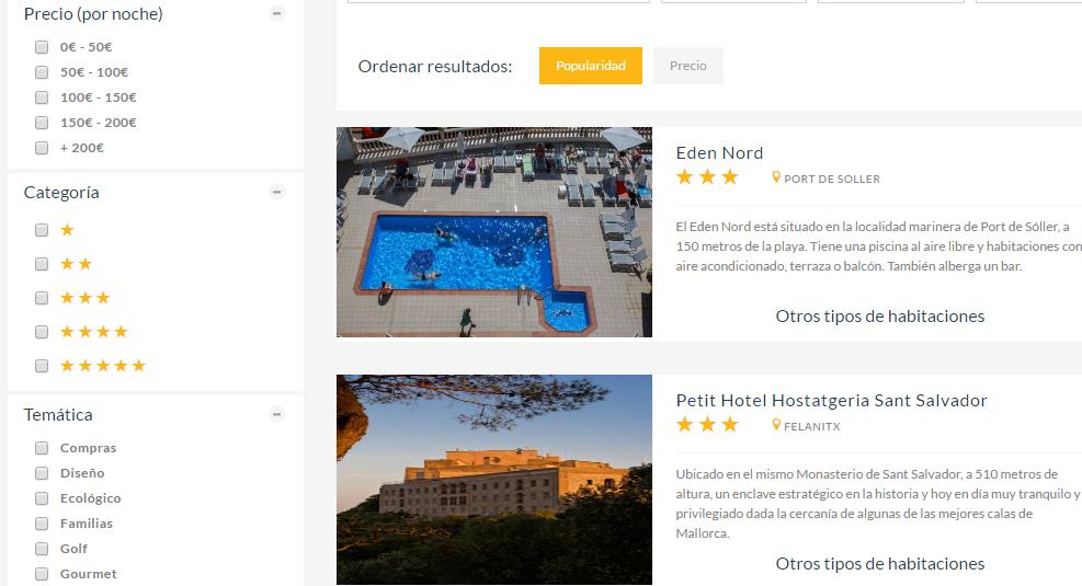 Hoteles de montaña en Mallorca