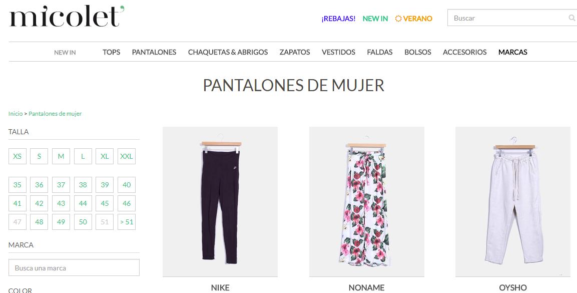 Tienda online de productos de segunda mano